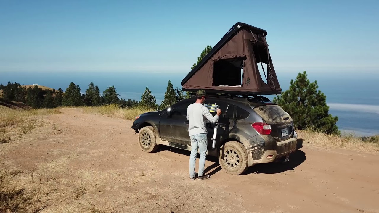 Simple Outdoors Skyloft Rooftop Tent On Subaru Crosstrek Youtube