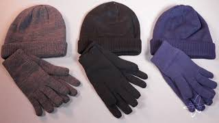 3M Thinsulate Insulated Hat & Gloves Set – Soft Knit & Fleece Lining