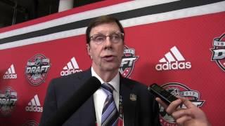 David Poile addresses media after 2017 Draft