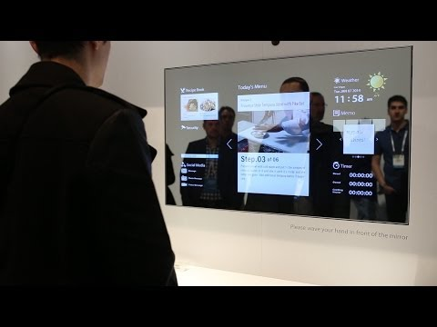 TV in Mirror (Toshiba Mirrored Multi-Display) - CES 2014