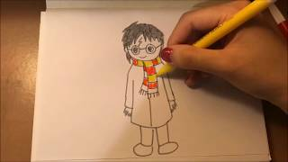 drawing simple potter harry draw chibi easy tutorial drawings version