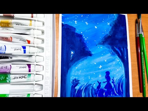 Landscape painting with watercolor for begginers step by step