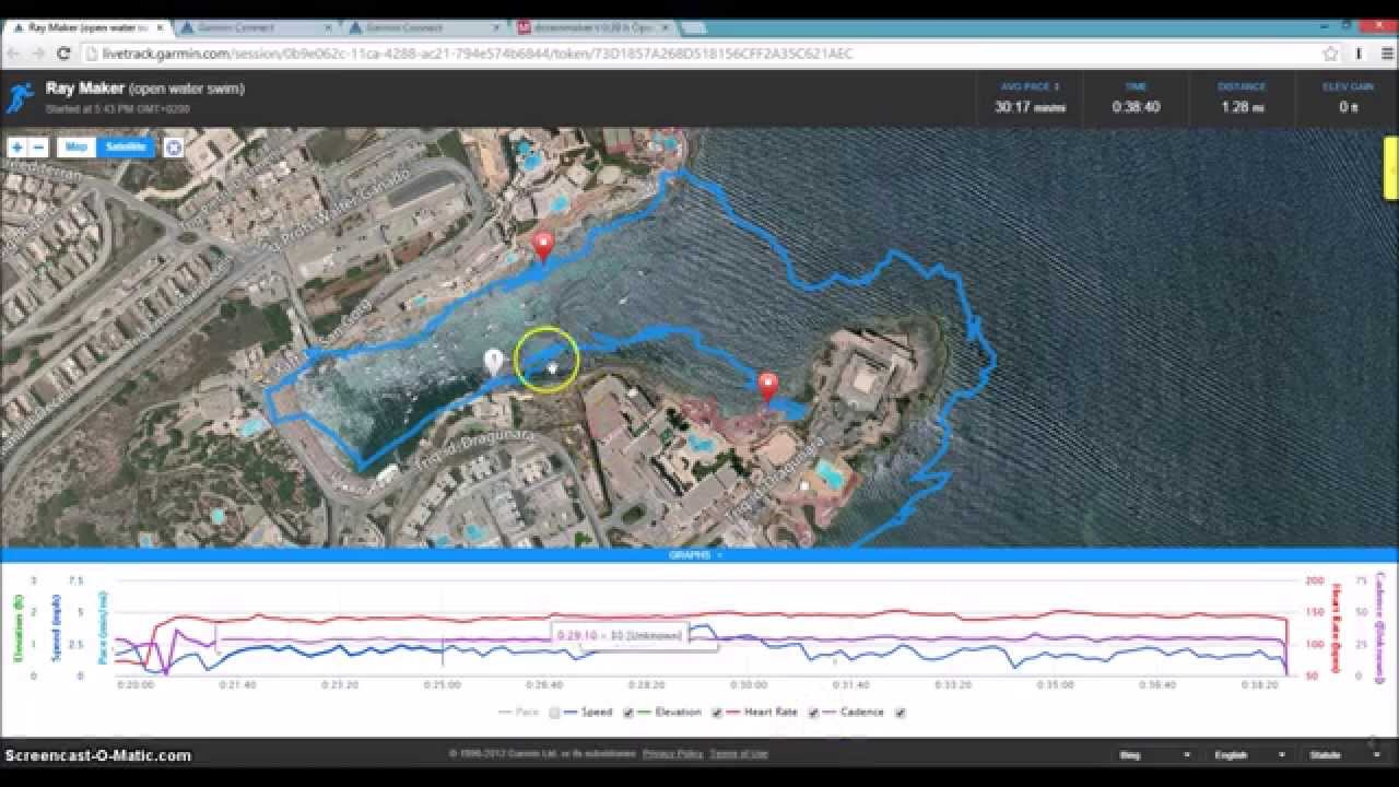 Garmin FR920XT Openwater Swim Live Tracking & Heart Rate Demo