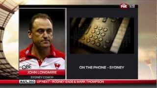 John Longmire interview AFL 360 2012 Jul 30th