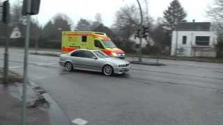 Ambulance, Krankenwagen, ziekenauto, Hamburg Niendorf-Markt, Germany, 16 january 2014