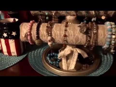 Dollar Tree inspired DIY bracelet holder - Decoration Decor Organizer Shabby Chic Americana