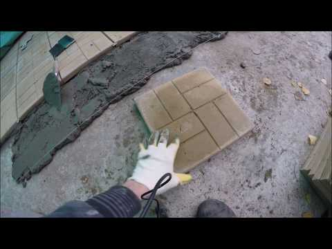 Особенности укладки тротуарной плитки на бетон на улице