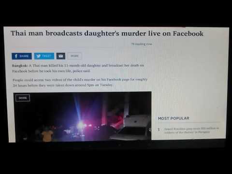 Thai man broadcasts daughter's murder live on Facebook