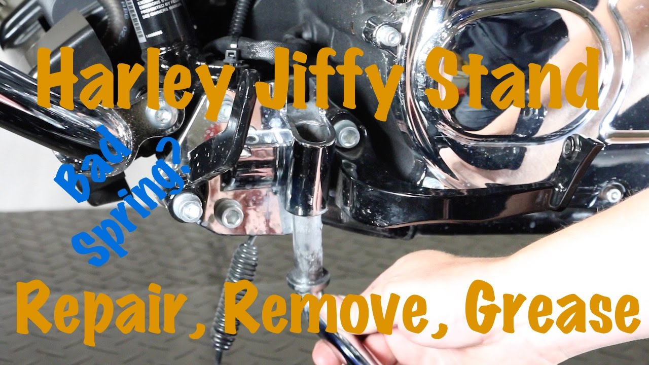 hight resolution of harley davidson jiffy kickstand maintenance repair remove spring grease diy