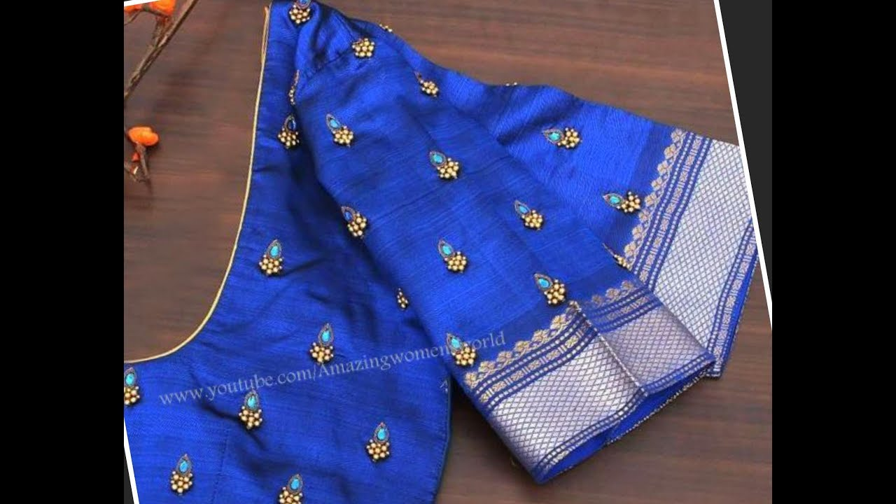Simple Designing On Old To New Designer Blouse With Normal