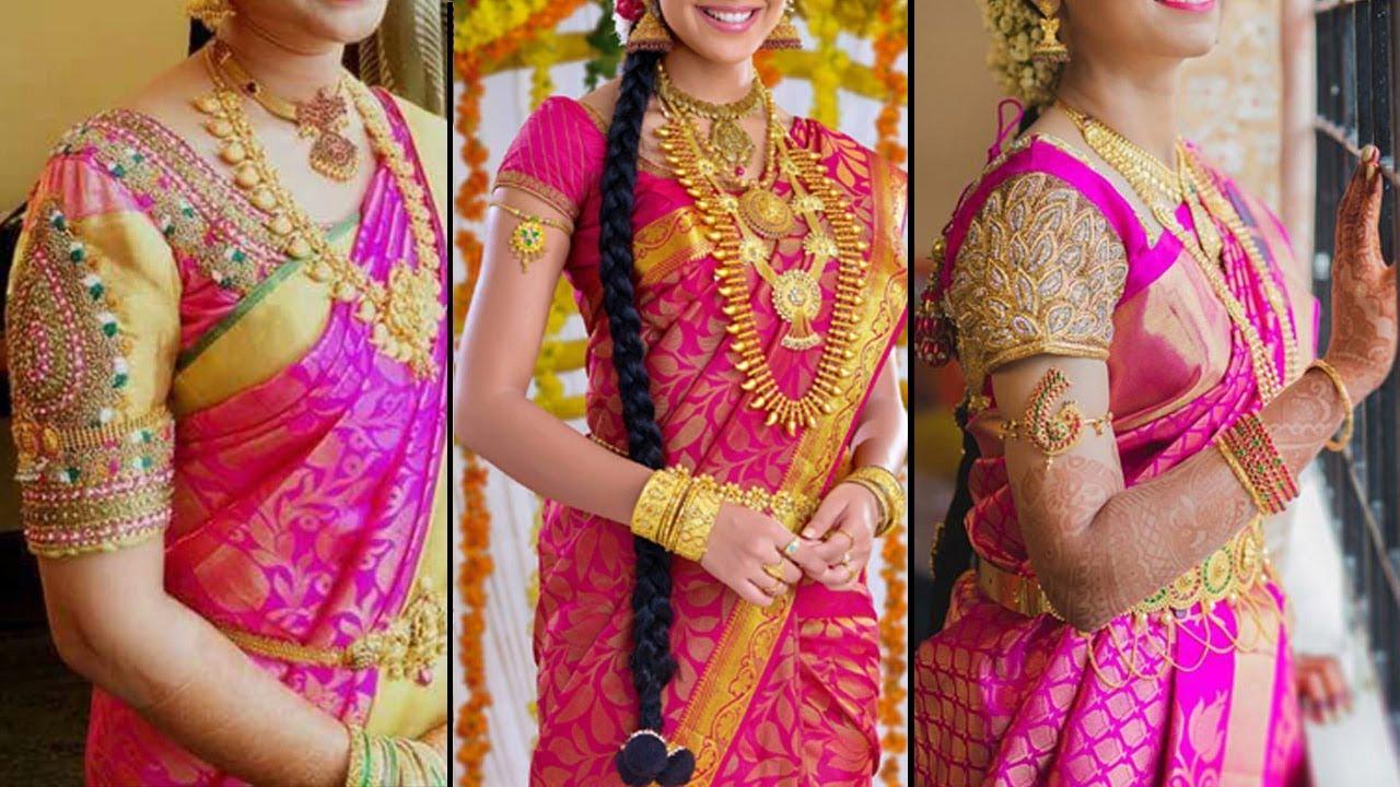 73643d471c Pink Colour Pattu Saree Collection | Perfect Women Pattu Saree Collection  2018 | Fashion World