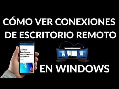 Cómo Ver Conexiones de Escritorio Remoto en Windows