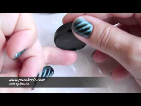 Laura Paige Magnetic Nail Polish - Green (tutorial, swatch)