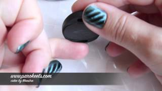 Laura Paige Magnetic Nail Polish - Green (tutorial, swatch) Thumbnail