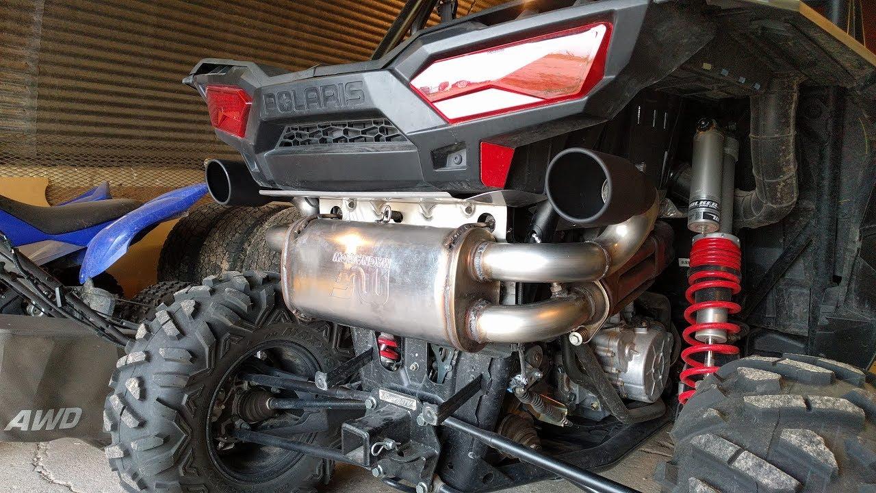 rzr xp 1000 custom magnaflow dual