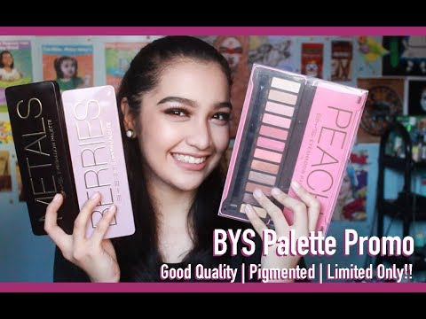 Review + Swatch + Eye Makeup Tutorial | BYS Berries, Metals and Peach Eyeshadow Palette 💚