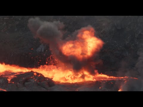 Propane gas tank thrown into lava lake at  Erta Ale
