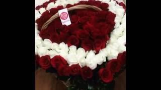 Цветы Омск - Корзина роз(