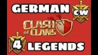 GERMAN LEGENDS ( Clankrieg Nr.4 /Teil 1)/CLASH OF CLANS /CW + TROPHY PUSH / POKIJAGD /DEUTSCH/GERMAN