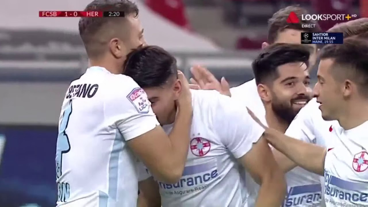 FCSB - Hermannstadt: 1-0, gol Iulian Cristea in minutul 2 I Liga 1, etapa 8, 2020-2021