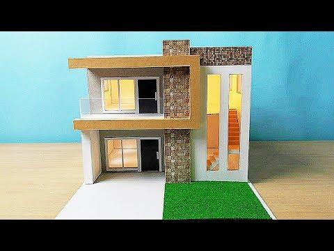 DIY Simple Miniature House | Modern House Design #11