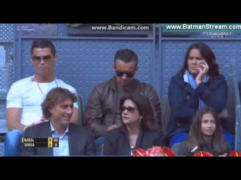 Cristiano Ronaldo watching Rafael Nadal vs. Joao Sousa - ATP Madrid 2016