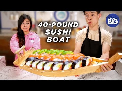 I Made A Giant 40-Pound Sushi Boat For A Mukbang Artist  Tasty