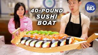 I_Made_A_Giant_40-Pound_Sushi_Boat_For_A_Mukbang_Artist_•_Tasty