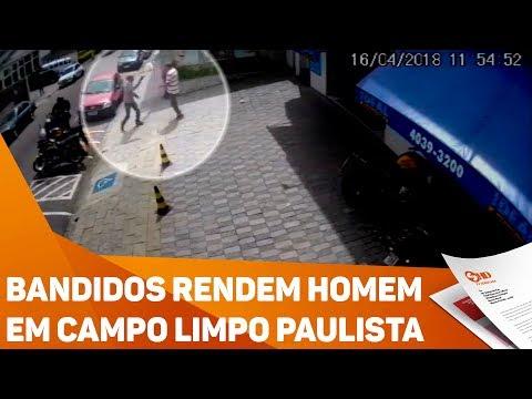 Bandidos rendem homem em Campo Limpo Paulista - TV SOROCABA/SBT
