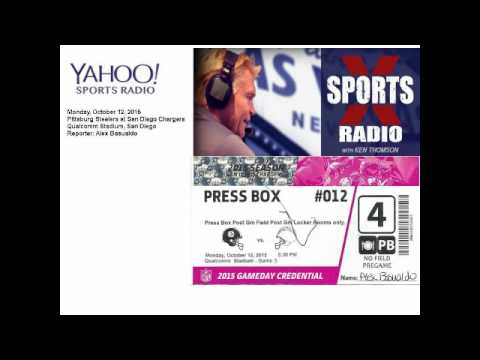 MNF Chargers vs Steelers Oct 12 2015   Sports X Radio with Ken Thomson