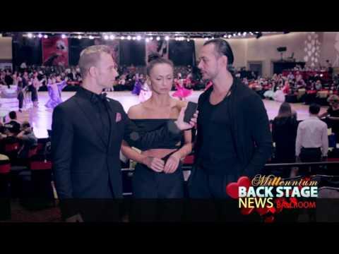 Slavik Kryklyvyy and Karina Smirnoff on Millennium Dancesport Championships 2017 Ballroom BackStage