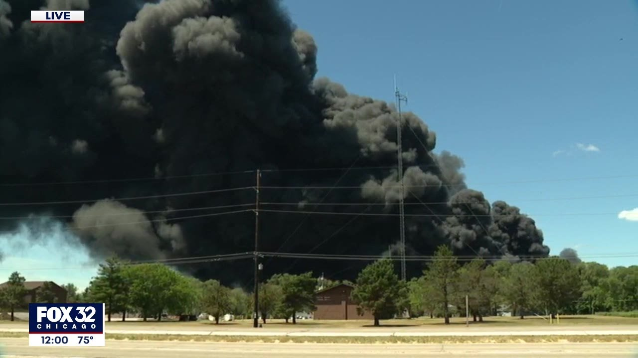 Massive Fire at Chemtool in Rockton Forces Evacuation