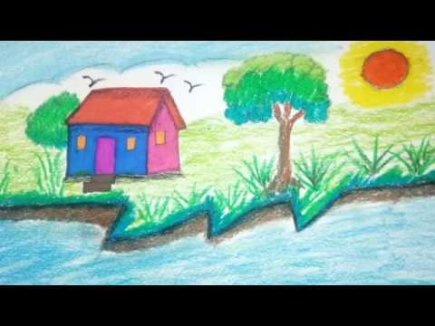 How to draw House | Draw for beginners & children | drawing for kids - step by step