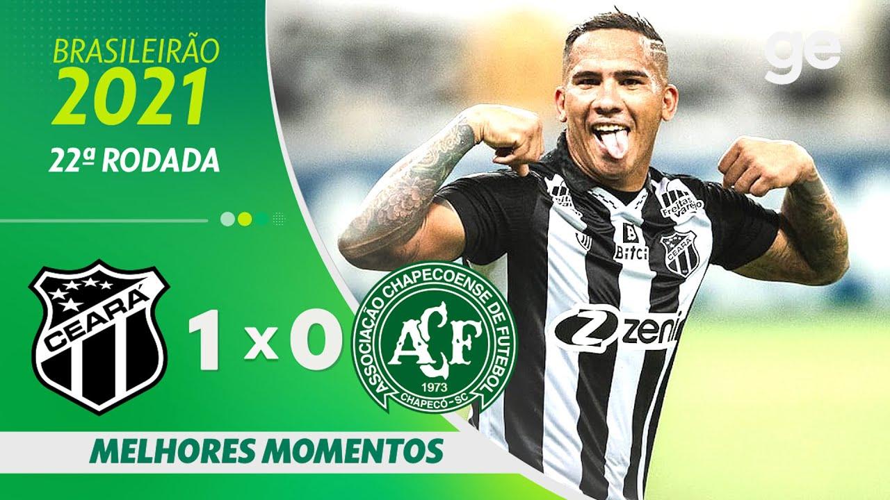 Download CEARÁ 1 X 0 CHAPECOENSE   MELHORES MOMENTOS   22ª RODADA BRASILEIRÃO 2021   ge.globo