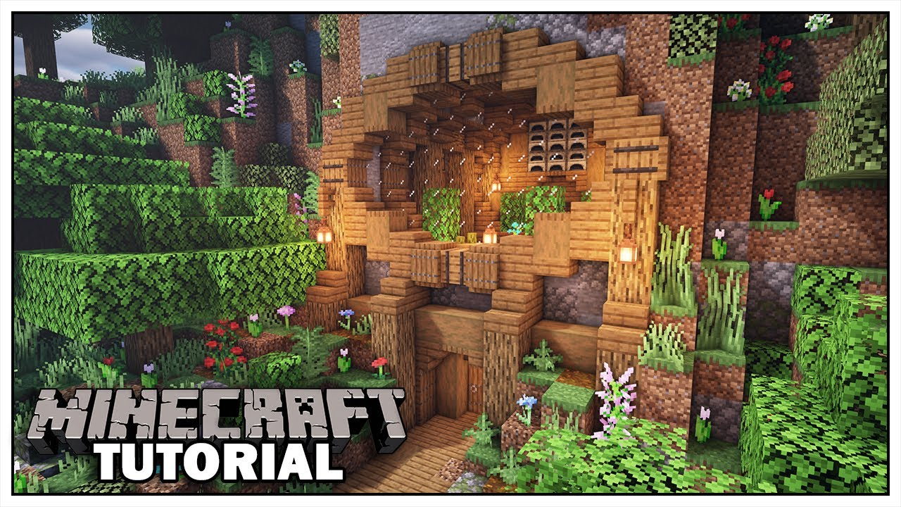 Minecraft: MOUNTAIN HOUSE TUTORIAL [How To Build]