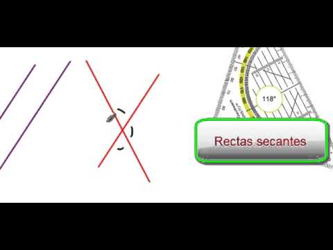 TUTORIAL 4 RECTAS PARALELAS, SECANTES Y PERPENDICULARES - YouTube