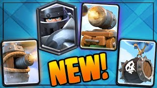 NEW MEGA KNIGHT, SKELETON BARREL, FLYING MACHINE & CANNON CART! Clash Royale & NEW EVENTS GAMEPLAY