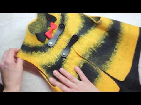 Новогодний костюм для мальчика Юный пчел. Техника - мокрое валяние.