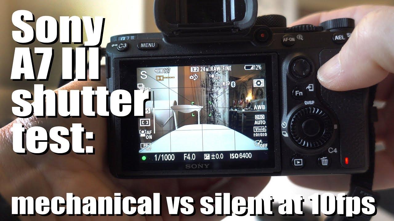 Sony A7 III shutter test - mechanical vs silent at 10fps