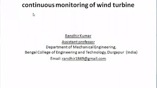 Presentation 11: Enhance prediction performance through continuous monitoring of wind turbine