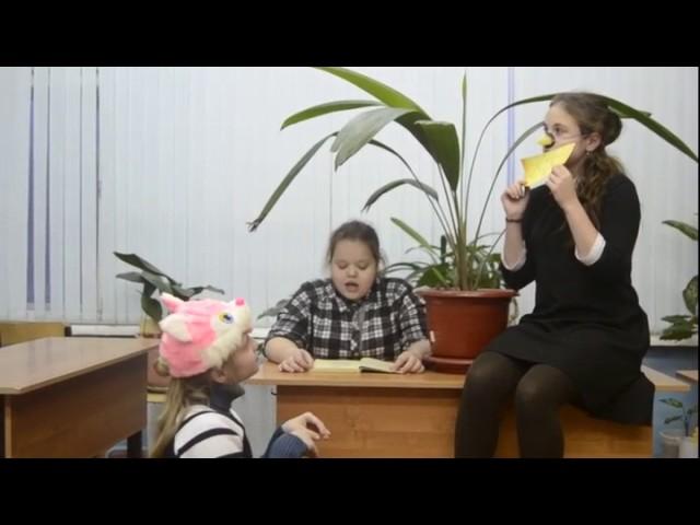 Изображение предпросмотра прочтения – «6А класс» читают произведение «Ворона и Лисица» И.А.Крылова