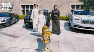 GTA 5 REAL LIFE PRINCE OF DUBAI MOD #2-BUYING A TIGER!