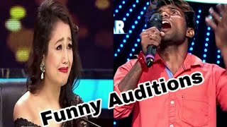 INDIAN IDOL Funny Auditions 2019  | Roast | Neha kakkar Laughing and Crying