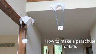 How to make a parachute for kids / homemade parachute / fun toy
