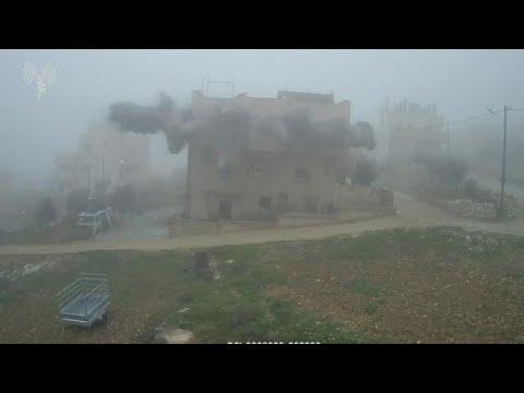 """צה""""ל פוצץ את בית המחבל חליל גבארין רוצחו של ארי פולד"""