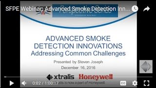SFPE Webinar: Advanced Smoke Detection Innovations - Addressing Common Challenges