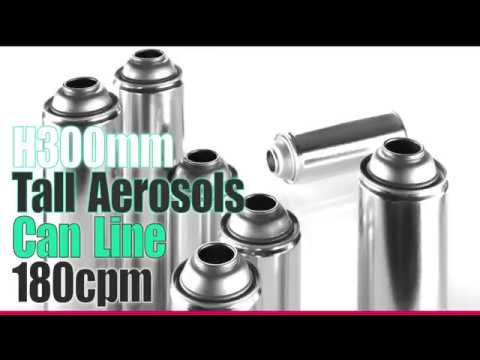 Aerosol Can Line For D65mm H300mm Speed 180cpm #canmaking #aerosolcanline #aerosolcan