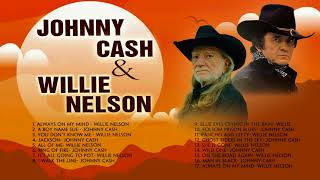Willie Nelson and Johnny Cash Greatest Hits - Best Classic Country Music Singers