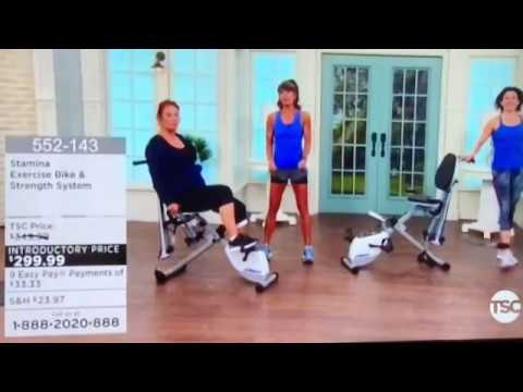 Stamina Exercise Bike and Strength System with Rosalie Brown