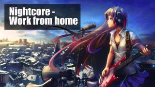 Nightcore - Work from home | Fifth Harmony ft Ty Dolla $ign | Lyrics